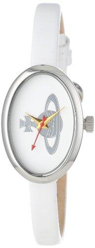 Vivienne Westwood Women's VV019WH Medal Swiss Quartz White Leather Strap Watch