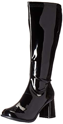 Black Gogo Boots (Ellie Shoes Women's GOGO-W Knee High Boot, Black Patent, 7 M)