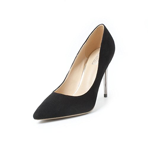 GAOLIM Zapatos De Tacón Alto Tip Profesional, Alta Heel Shoes Luz Negra Está Bien con Los Singles Femeninos Zapatos con Alto (Mayor de 8 Cm) Negro 10cm.