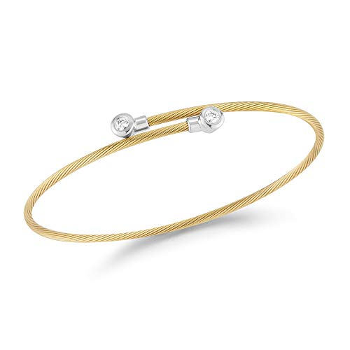 I. Reiss 14K Yellow Gold 0.15ct TDW Diamond Accent Wrap-Around Wire ()
