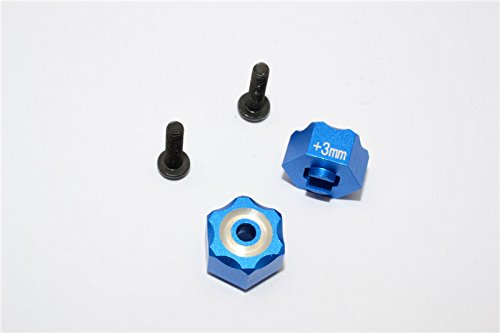 Traxxas LaTrax SST Upgrade Parts Aluminum Hex Adapter (+3mm) - 2Pcs Set Blue