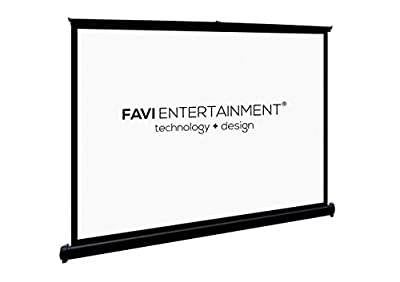 FAVI 50-inch (16:9) Portable Table-Top Projection Screen - US Version (Includes Warranty) - Pro AV Series (TT3HD50) from FAVI