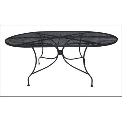 DC America WIT172 Charleston Wrought Iron Table, 72-Inch by 42-Inch