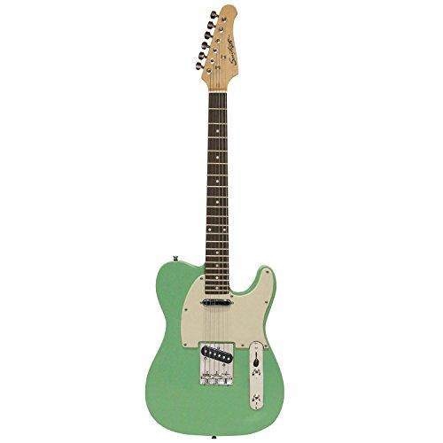 Sawtooth ST-ET50-SGRW Classic ET 50 Ash Body Electric Guitar Pack, Surf Green (Arsenal Guitar Picks)