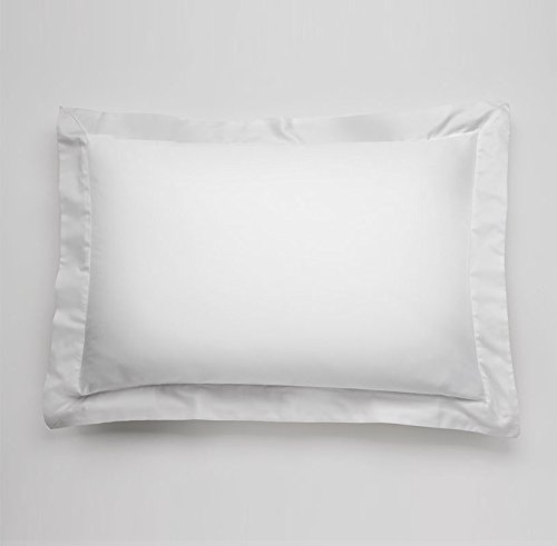 600 Thread Count 100% Egyptian Cotton Pillow Shams Standard Size 20X26 White Solid (Pack of (Cotton Sham)