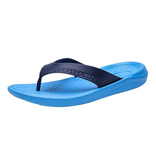 Corriee Men Flats Beach Sandal Breathable Flip Flops Fashion Casual Shoes Blue
