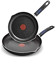 T-Fal Frying Pan Set, Non Stick Non Toxic Frying Pan, 24cm and 30cm, Thermo-Spot Heat Indicator, Dishwasher Sa