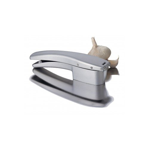 Focus Foodservice 8662 Garlic Press and Slicer Card/Clamshell Pack, 1/16'' Slices, 7-3/4'', Cast Aluminum