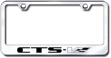 Cadillac V CTS-V Logo Laser Etched Frame Black Gloss License Plate Frame