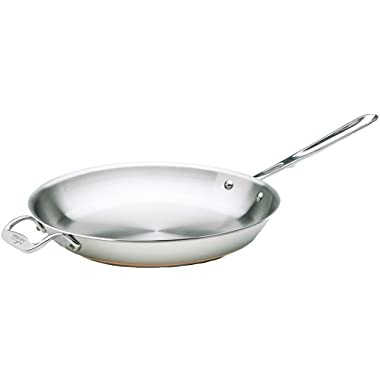 All-Clad 6112 SS Copper Core 5-Ply Bonded Dishwasher Safe Fry Pan Cookware, 12-Inch, Silver