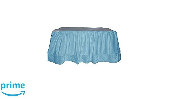 Blue Baby Doll Bedding Drake Linen Look Big Crib Rail