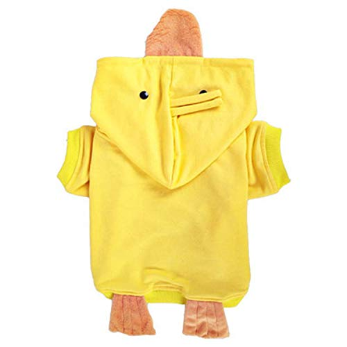 Cute Cartoon Duck Transformed Cloth Pet Dog Coat Spring Summer Comfortable Clothes for Dogs French Bulldog Casual Clothing,Yellow,XXL