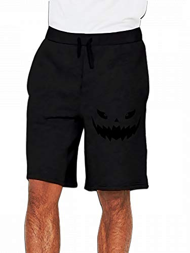 Really Scary Halloween Pumpkin Face Vector Mens Casual Short Trouser Black -