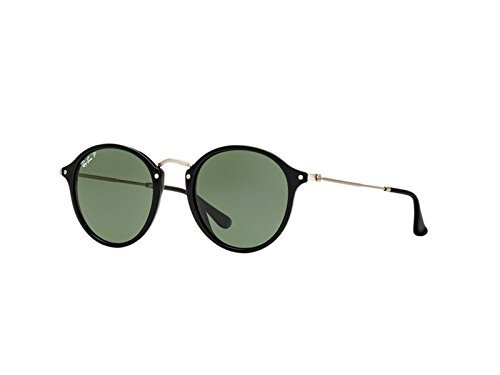 Ray Ban Round Sunglasses  Rb2447  Black Green Acetate   Polarized   49Mm
