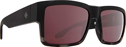 Spy Optic Cyrus | Flat Sunglasses (Matte Black/Smoke Tort Fade - Happy Rose with Silver Spectra Mirror)