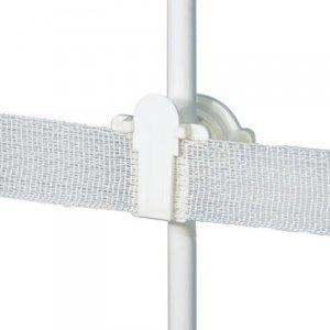 (Powerfields RP-25 Round Post Polytape Insulator (25 Pack), White)