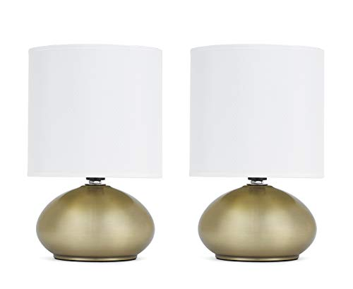(Catalina Lighting 18581-001 Caden Catalina 2 Pack Brass Touch Mini Accent Lamps One Size)