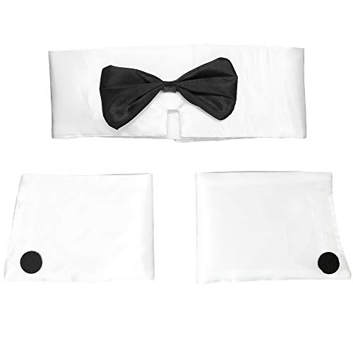 Collar and Cuff Set - Male Dancer Sexy Stripper Playboy Costume Accessories for Halloween, Bachelor Parties - 1 Set -