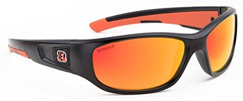 Officially Licensed NFL Sunglasses, Cincinnati Bengals, 3D Logo on Temple - 100% UVA, UVB & UVC - Sunglasses Bengals Cincinnati