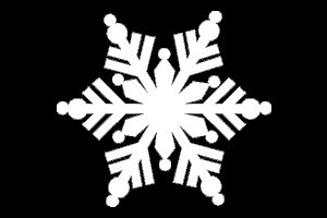 Snowflake Winter Christmas White Decal Vinyl Sticker|Cars Trucks Vans Walls Laptop| White |5.5 x 5 in|LLI634]()