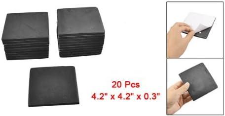 20 Pcs Square Shape Adhesive Spare Foam Sander zurück Pad Black