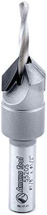 Amana Tool 55205 Carbide Tipped Countersink #6 Screw 1//2 Dia x 1//8 Drill Dia x 5//16 Roun