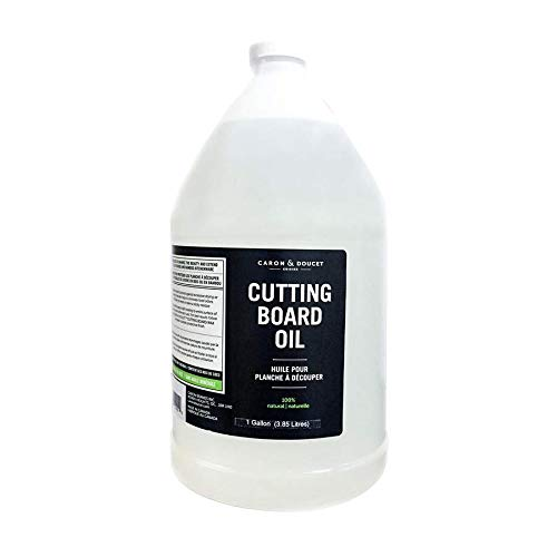 Caron & Doucet - Coconut Cutting Board Oil & Butcher Block Oil - 100% Plant Based, Made From Refined Coconut Oil, Does Not Contain Petroleum (Mineral Oil). (1 Gallon) by Caron Doucet Cuisine