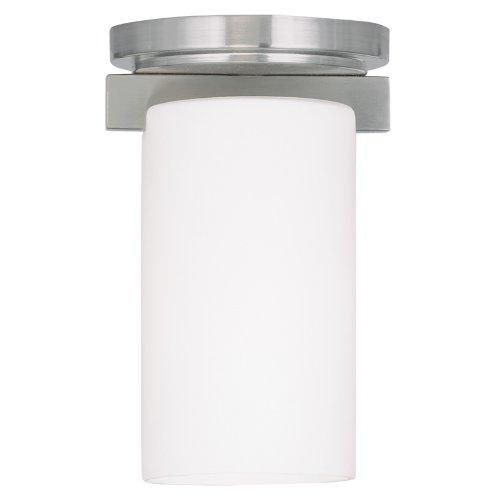 Livex Lighting 1320-91 Astoria 1-Light Ceiling Mount, Brushed Nickel