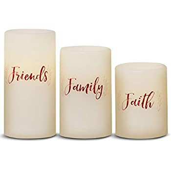 Candle Flameless LED with Timer (3x4, 3x5, 3x6) 3pc Sentiments