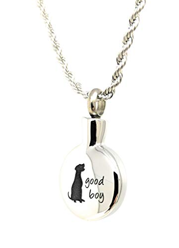 Katie Collection by Urnseller Good Boy Dog pet Keepsake Jewelry Memorial Necklace Chain for Men and Women