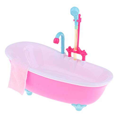 Prettyia Dollhouse Miniature ABS Bathtub with Light for sale  Delivered anywhere in USA