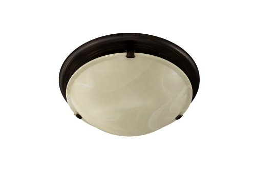 ve Ventilation Fan with Light, 80 CFM 2.5 Sones, Oil Rubbed Bronze and Ivory Alabaster Glass ()