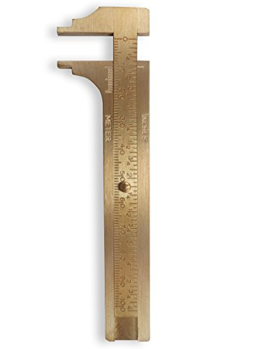 Totally Tools 100 Millimeter Brass Caliper Gauge fore measuring Beads and Stones