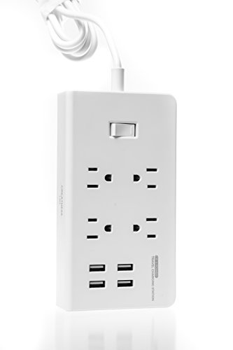 Greatness Line GR-8 Power Compact & Slim Travel Charging Station - International Power Adapter - Surge Protector - Power Strip with 4 Intelligent USB - Free Bonus Included by Greatness Line (Image #2)