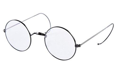 2ac61c4b2d6 Agstum Retro Round Optical Rare Wire Rim Eyeglass Frame 49mm (Without Nose  Pads) (