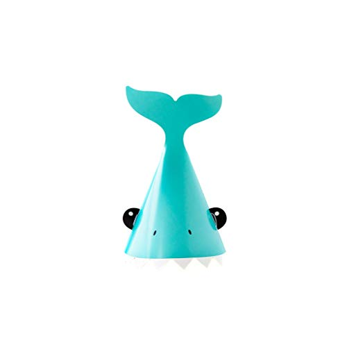 Shark Party Supplies, Kids Pool Party Hat, Pool Birthday Party, Birthday Hat, Paper Hat for Party Beach Party, Swimming Party Pack ()