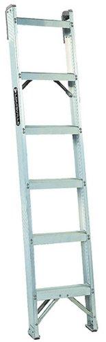 Louisville Ladder AH1008 300-Pound Duty Rating Aluminum Shelf Ladder, 8-Foot