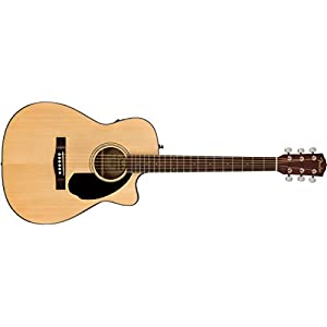 Fender CC-60SCE, Natural, Rosewood Electro Acoustic Guitar