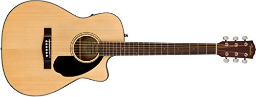 Fender CC-60SCE Right Handed Acoustic-Electric Guitar – Concert Body Style – Natural