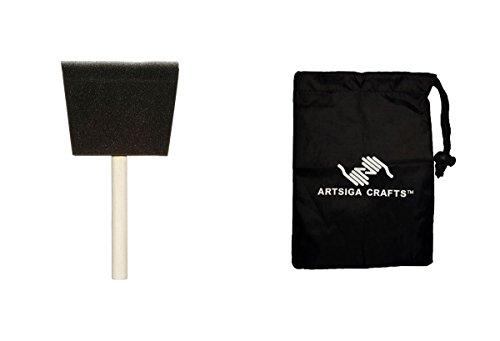 Darice Paint Brushes Sponge Brush 4in. (48 Pack) 97781 Bundle with 1 Artsiga Crafts Small Bag by Darice