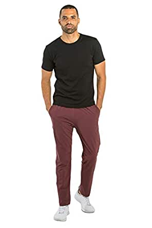OLIVERS Apparel, Mens 4-Way Stretch, Water Repellent, Bradbury Athletic Jogger Pants (Small, Crimson)