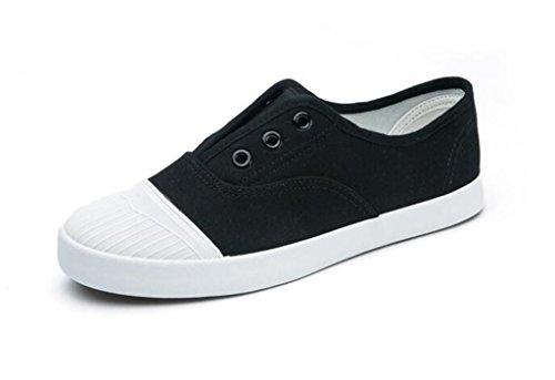 Escuela Ocio Movimiento Verano Nvxie Diaria Estudiantes Blanco Cómodo Negro Black Señora Zapatos q40IwIZ7