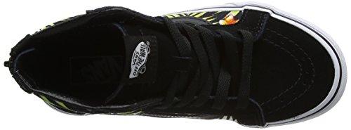 Vans Uy Sk8-Hi Zip, Zapatillas Altas para Niños Negro (Decay Palms)