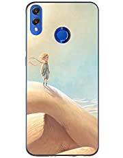 Oihxse Case Transparente Suave TPU Compatible con Huawei P Smart Z Funda [Lindo Caricatura Flor Serie Dibujos] Cristal Protector Carcasa Anti Rasguños Bumper Cover-Desierto