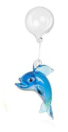 (Blue Floating Glass Dolphin Aquarium Charm by Ganz)