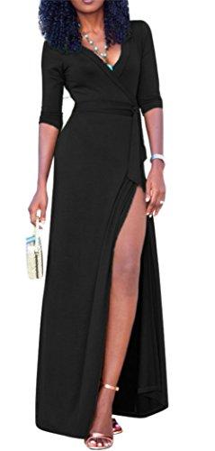 long black maxi dress plus size - 8