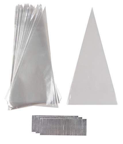 Cake and Pastry Decorating Bags - 300-Pack Disposable Piping Bags with Silver Twist Tie Cables, Clear Plastic Cupcake Icing Frosting Bags, 6.5 x 13 Inches