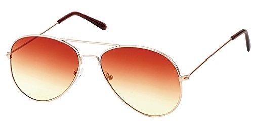 Gläser area17 sol hombre para Gafas mit 16 Rahmen Verlauf gold braun de w88qRS