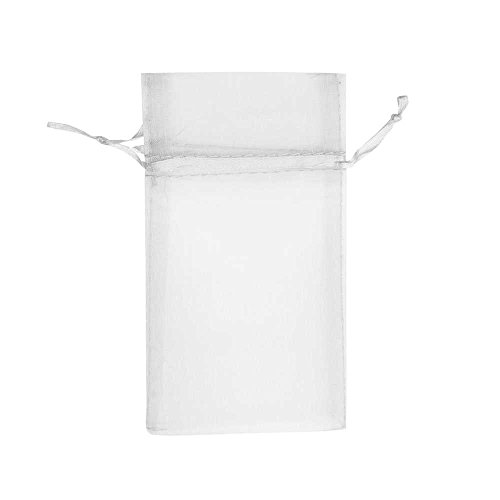 Beadaholique White Organza Drawstring Gift Bags 3x4 Inch (12 Bags)