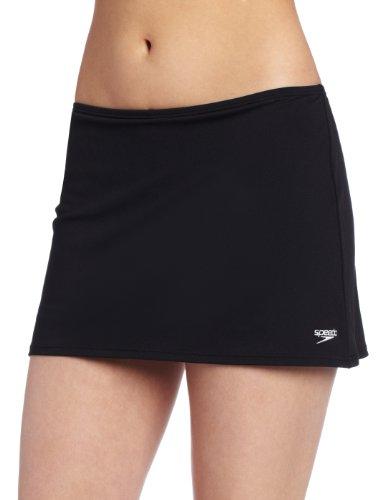 Speedo Women's Endurance+ Skirtini With Compression Short, Black, 12 ()